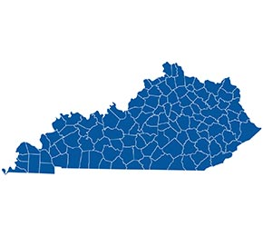 Climate Support Kentucky Map